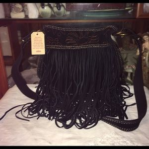 New Lucky Brand Fringe Cross Body Bag
